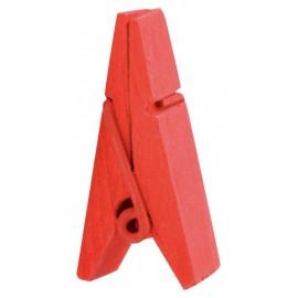 Pince pyramide rouge en bois les 12