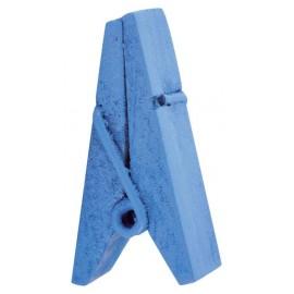 Pince pyramide turquoise en bois les 12