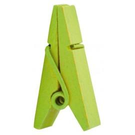 Pince pyramide vert anis en bois les 12