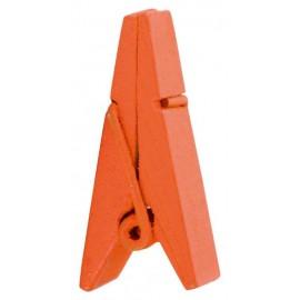 Pince pyramide orange en bois les 12