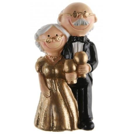 Figurine couple noces d'or