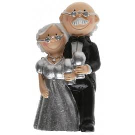 Figurine couple noces d'argent