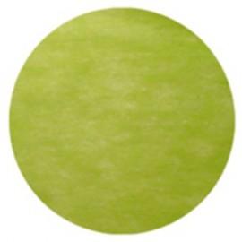 Set de table rond intissé vert 34 cm les 10