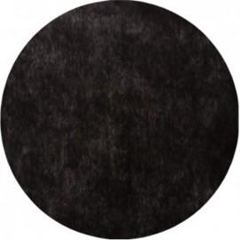 Set de table rond intissé noir 34 cm les 10