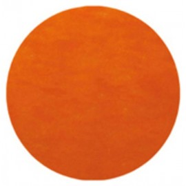 Set de table rond intissé orange 34 cm les 10