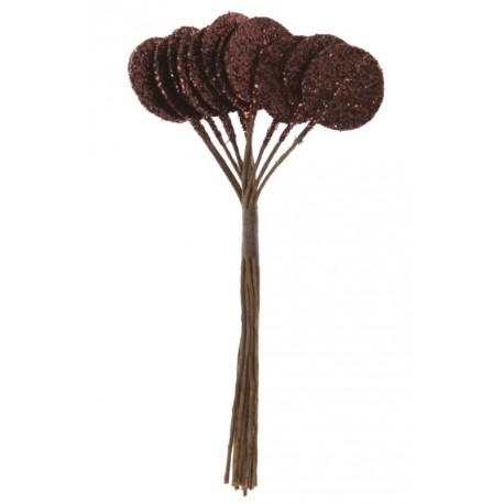 Rond chocolat pailleté sur tige les 12