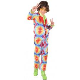 Déguisement hippie batik garçon luxe