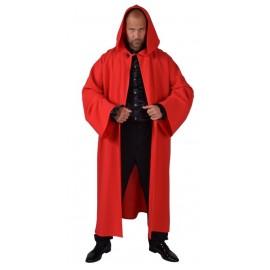 Déguisement manteau long rouge homme luxe