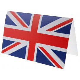 Carte invitation drapeau anglais Union Jack les 10