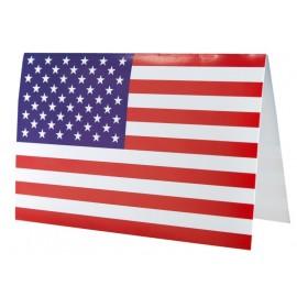 Cartes invitation drapeau américain USA les 10