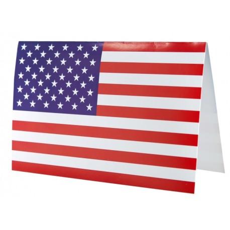 Carte invitation drapeau américain USA les 10