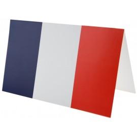 Cartes invitation drapeau Français les 10