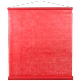 Tenture de salle intissé rouge 8 M