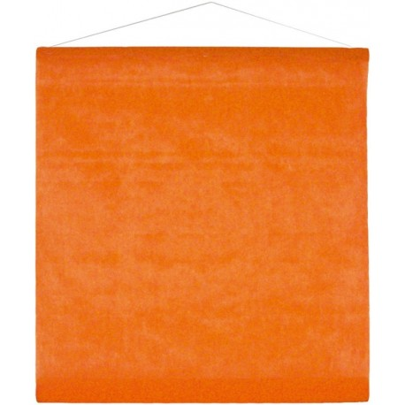 Tenture de salle intissé orange 8 M
