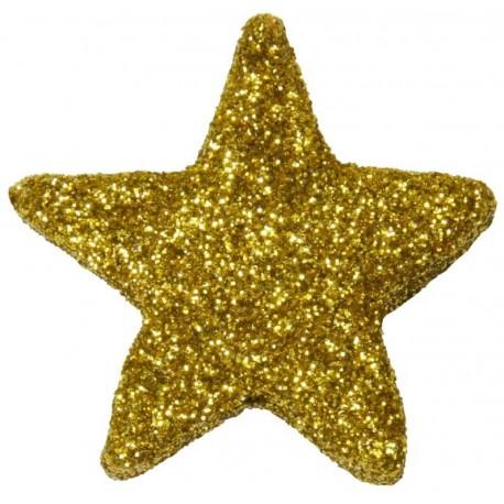 Etoile pailletée or festive les 12