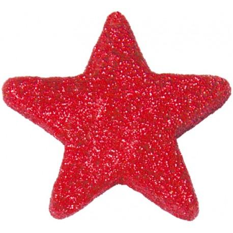 Etoile pailletée rouge festive les 12