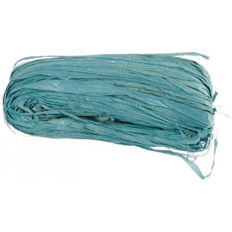 Raphia naturel turquoise pelote 50 g