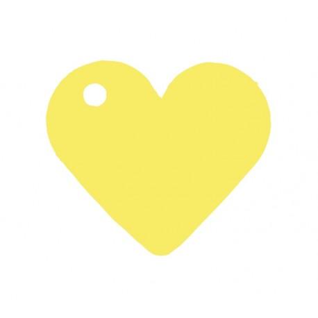 Etiquette coeur jaune les 10