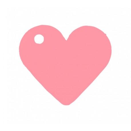 Etiquette coeur rose les 10