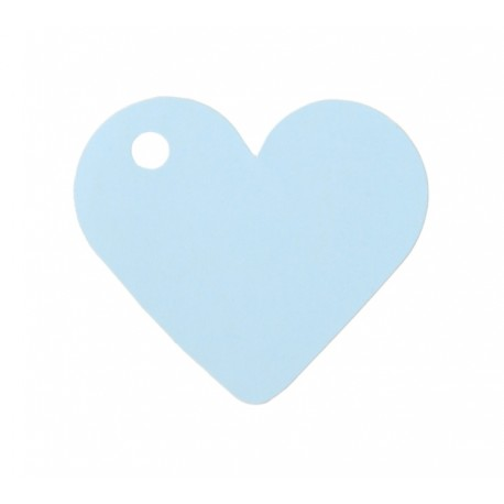 Etiquette coeur bleu ciel les 10