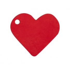 Etiquettes coeur rouge les 10