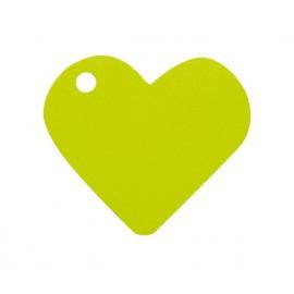 Etiquettes coeur vert anis les 10
