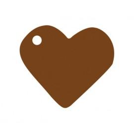 Etiquettes coeur chocolat les 10
