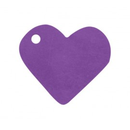 Etiquettes coeur prune les 10