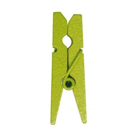 Mini pince en bois vert anis les 24
