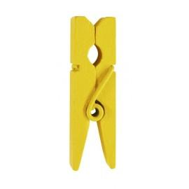 Mini pince en bois jaune les 24