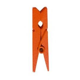 Mini pince en bois orange les 24