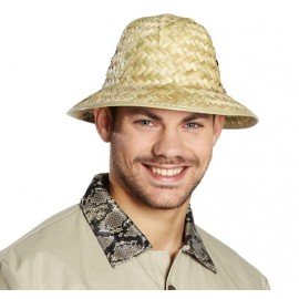 Chapeau de paille safari adulte