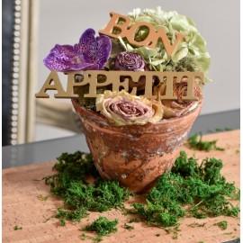 Mots Bon appétit en bois - 3 coloris