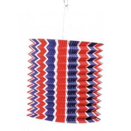 Lampion bleu-blanc-rouge en papier 16 cm x1