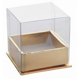 Boîte à dragées cube or les 4