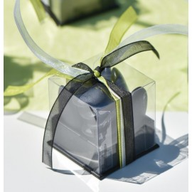 Boîte à dragées cube noir les 4