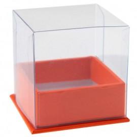 Boîte à dragées cube orange les 4
