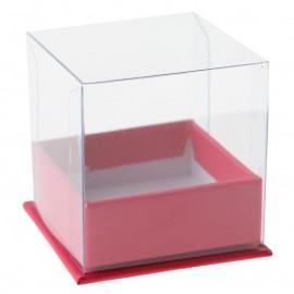Boîte à dragées cube fuchsia les 4