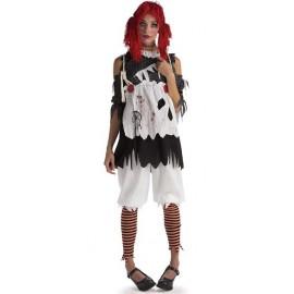 Déguisement poupée de chiffon zombie femme