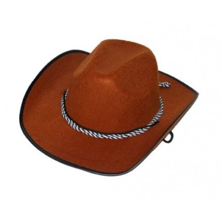 Chapeau cowboy marron adulte