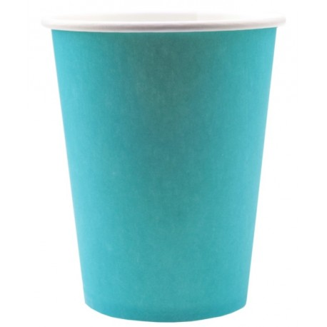 Gobelet carton turquoise les 10