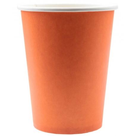 Gobelet carton orange les 10