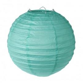 Lanterne boule papier menthe 20 cm les 2