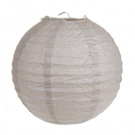 Lanterne boule papier taupe 20 cm les 2