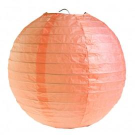 Lanterne boule papier corail 30 cm les 2