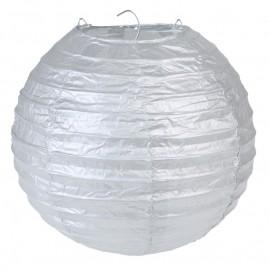Lanterne boule papier argent 20 cm les 2