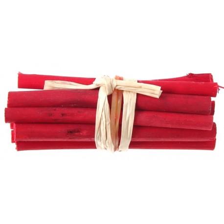 Fagot de bois rouge déco 6 cm les 4