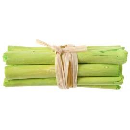 Fagot de bois vert anis déco 6 cm les 4