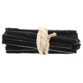 Fagot de bois noir déco 6 cm les 4