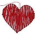 Coeurs en rotin rouge déco les 2